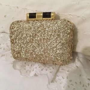 Black tie event purse